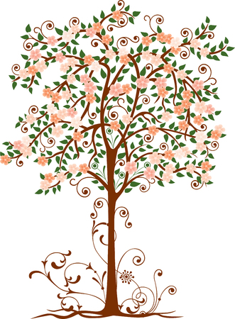 Decorative blossoming tree