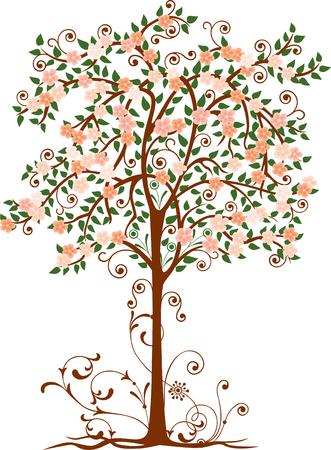 Decorative blossoming tree