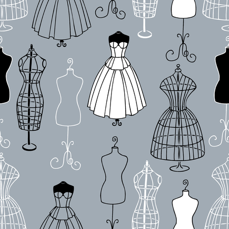 Pattern of the mannequins of sewing atelier Ilustracje wektorowe