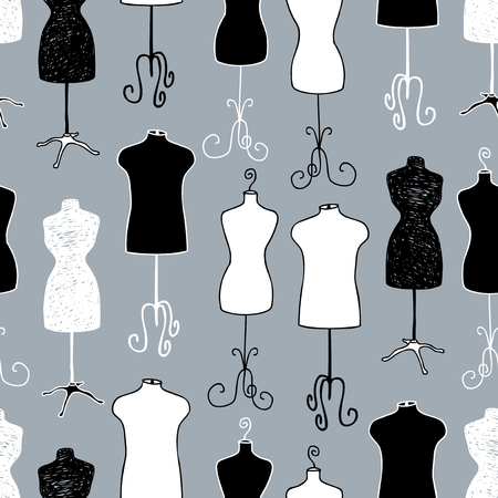 Pattern of male and female mannequins for tailoring