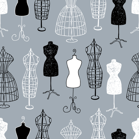 Pattern of the female mannequins for tailoring