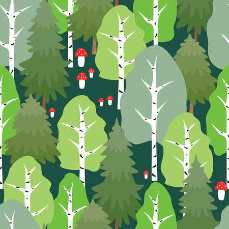Pattern of the summer forest