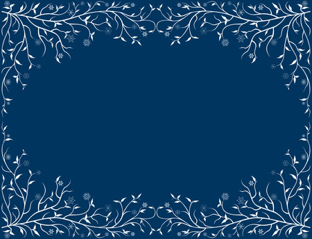 Vector framework with frozen branches and snowflakes