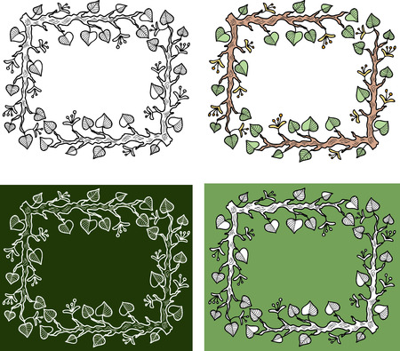 Decorative frames from linden branches