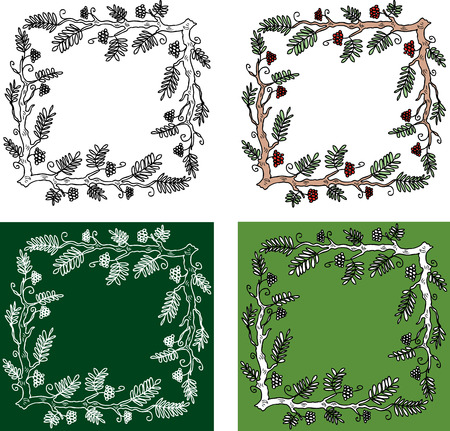 Decorative frames from rowan branches