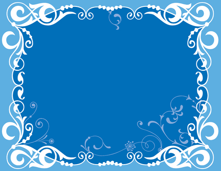 Vector image of decorative blue framework