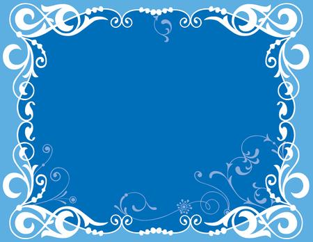 Vector image of decorative blue framework Imagens - 113563910