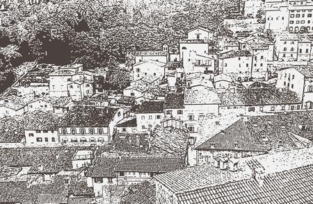 Vector image of Urbino, old renaissance town Illustration