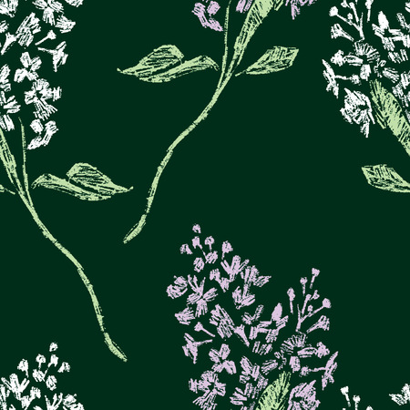 Seamless background of lilac twigs