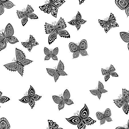 pattern of various ornamental butterflies