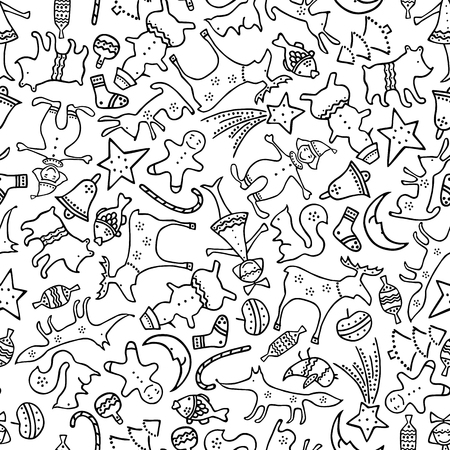 pattern of the christmas gifts Ilustracja