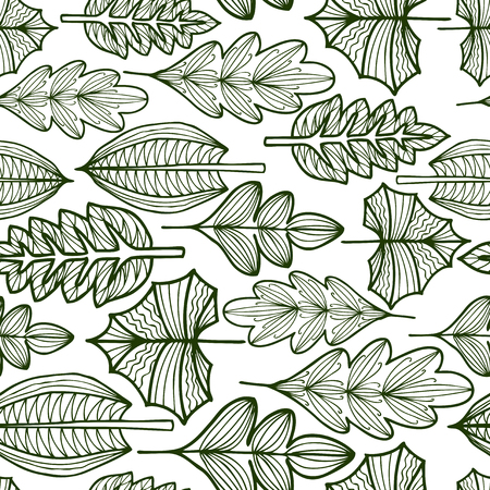 Seamless pattern of the fantasy leaves 写真素材 - 124850714