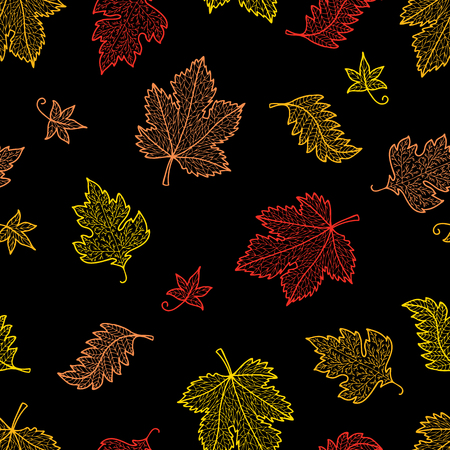 background of decorative fall leaves