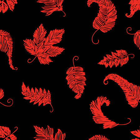 pattern of  leaves trees sketches