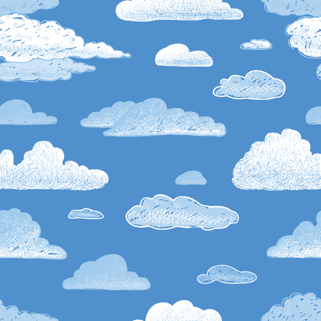 seamless pattern of cloudy sky