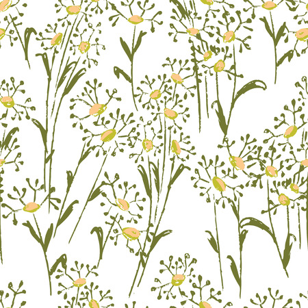 Pattern of drawn wilfflowers