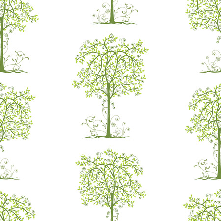 Background of decorative deciduous trees