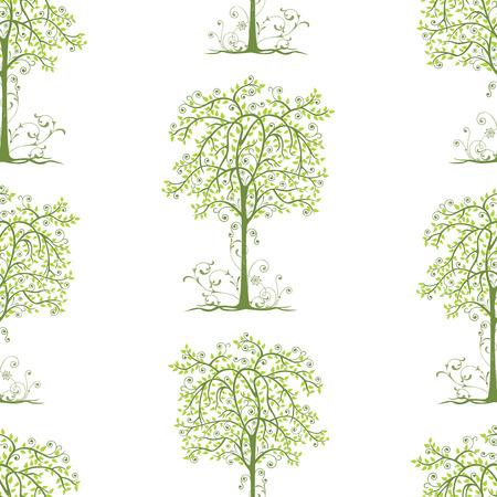 Background of decorative deciduous trees