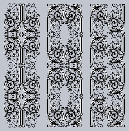 Decorative borders in vintage style