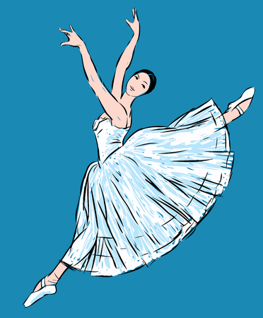 Sketch of a dancing ballerina