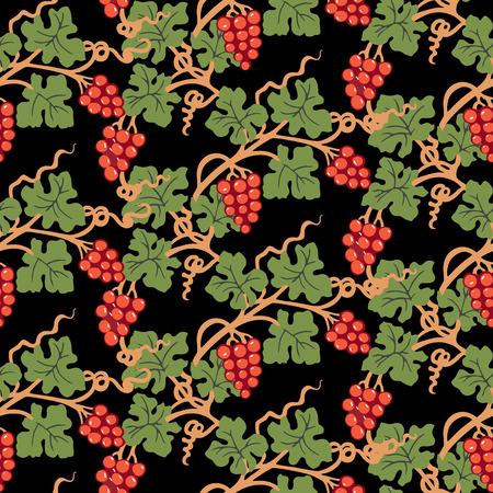 Seamless background of decorative ripe vine