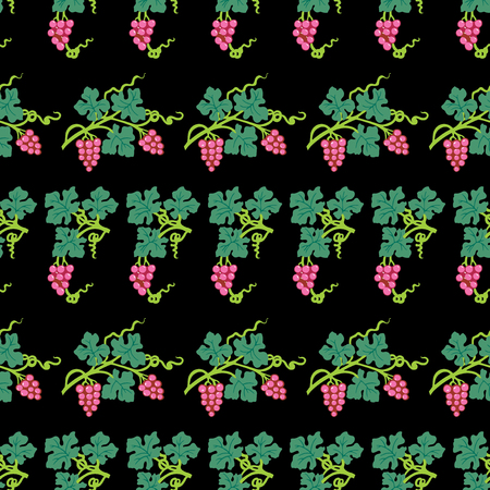 Seamless pattern of vine branches