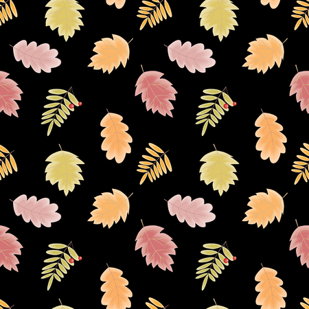 Background of various autumn leaves Ilustracja