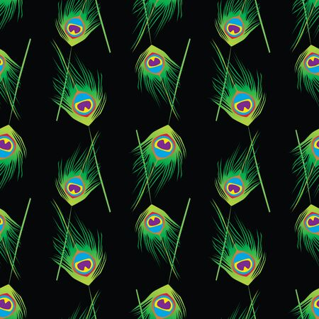 Seamess pattern of colorful peacocks feathers 写真素材 - 133483467