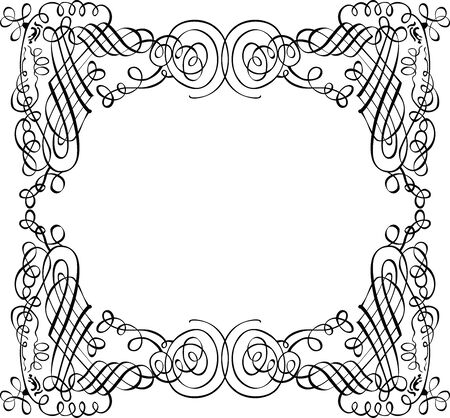 Vector decorative frame from ornamental tangled design elements Ilustrace