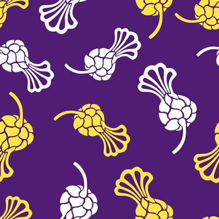 Seamless pattern of buds of thistle flowers