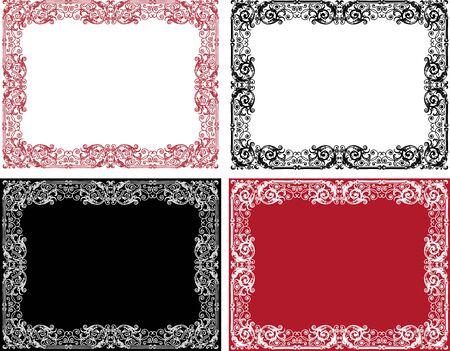 Vector image of ornamental frames in vintage style