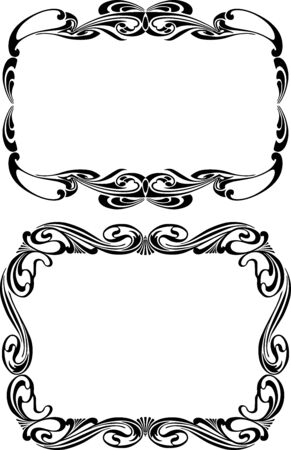Vector image of decorative frames in vintage style