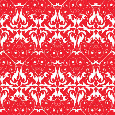 Seamless vector pattern of ornate floral elements  イラスト・ベクター素材
