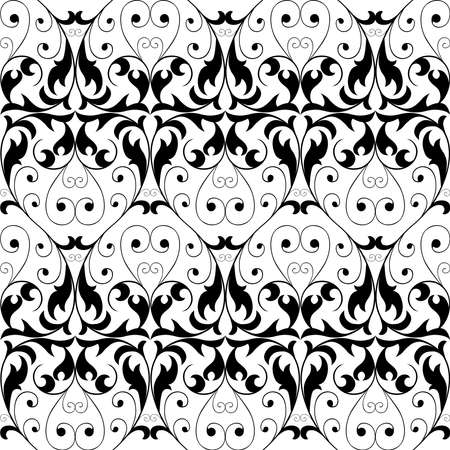 Seamless background of ornamental floral elements
