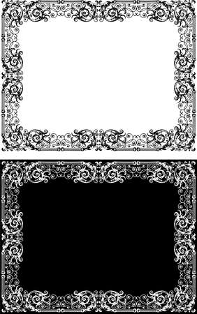 Vector decorative vintage frames in baroque style