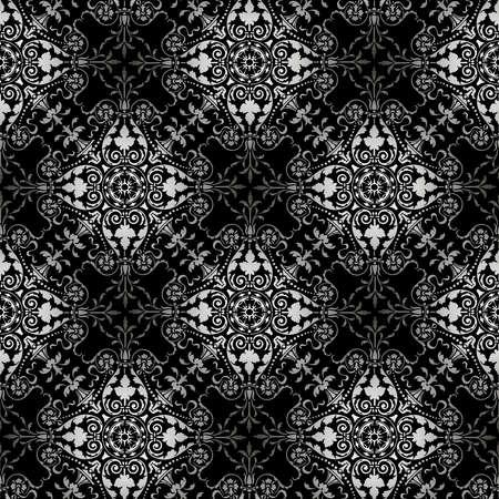 Seamless pattern of ornate tracery in vintage style Illusztráció