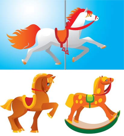 Toy horses  Stock Vector - 11101463