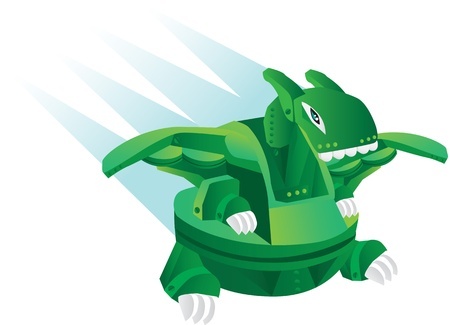 illustration cartoon robot - dinosaur toy Vector