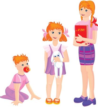 поколение: мультфильм растущих девочек
