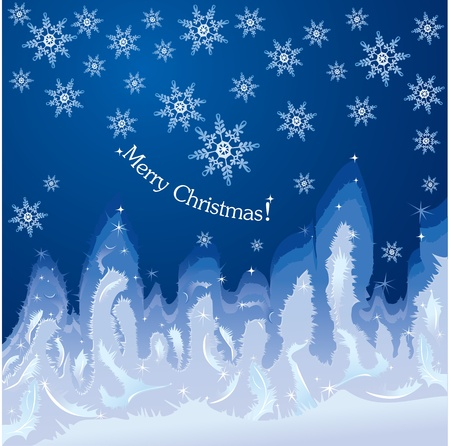 흰 서리: Christmas hoarfrost background on window glass - Winter decoration for your design.  일러스트