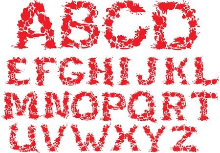 Alphabet - blots letters  Vector