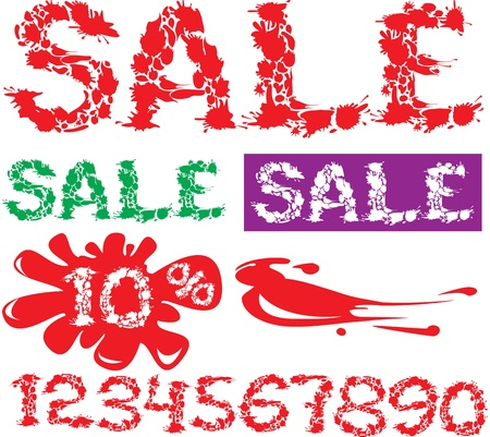 Symbol SALE, numerals and symbol percent for shops design Stock Vector - 11142240
