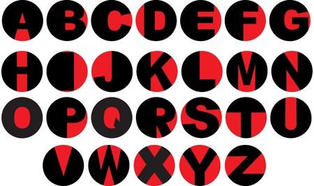 bakelite: Alphabet - vinyl record letters
