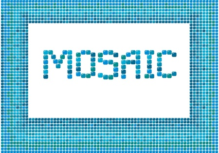 mosaic frame (landscape) on white background Stock Vector - 11142219