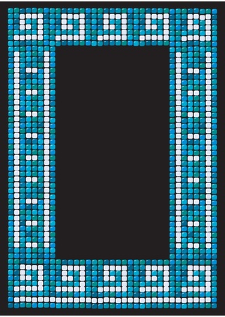 mosaic frame (portrait) Illustration