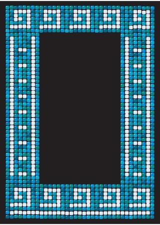 greek mythology: mosaic frame (portrait) Illustration