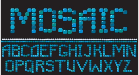 ceramica: Alfabeto - cartas de mosaico