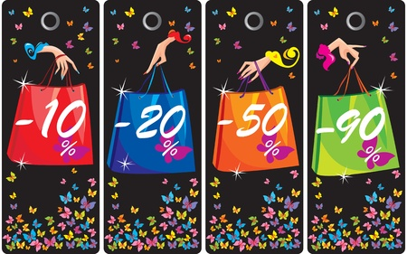 Concept of sale labels Vector