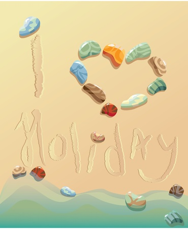summer holiday postcard from seaside Vector