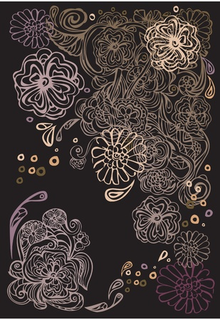 Background with abstract ornament Vector